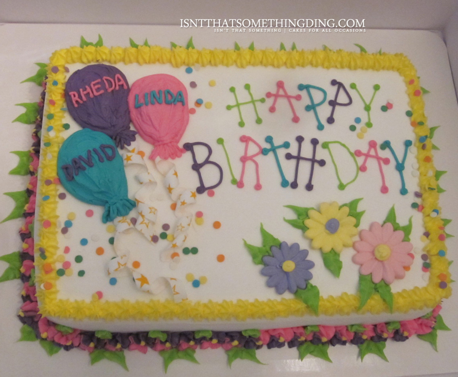 Balloon And Flower Birthday Cake On Central