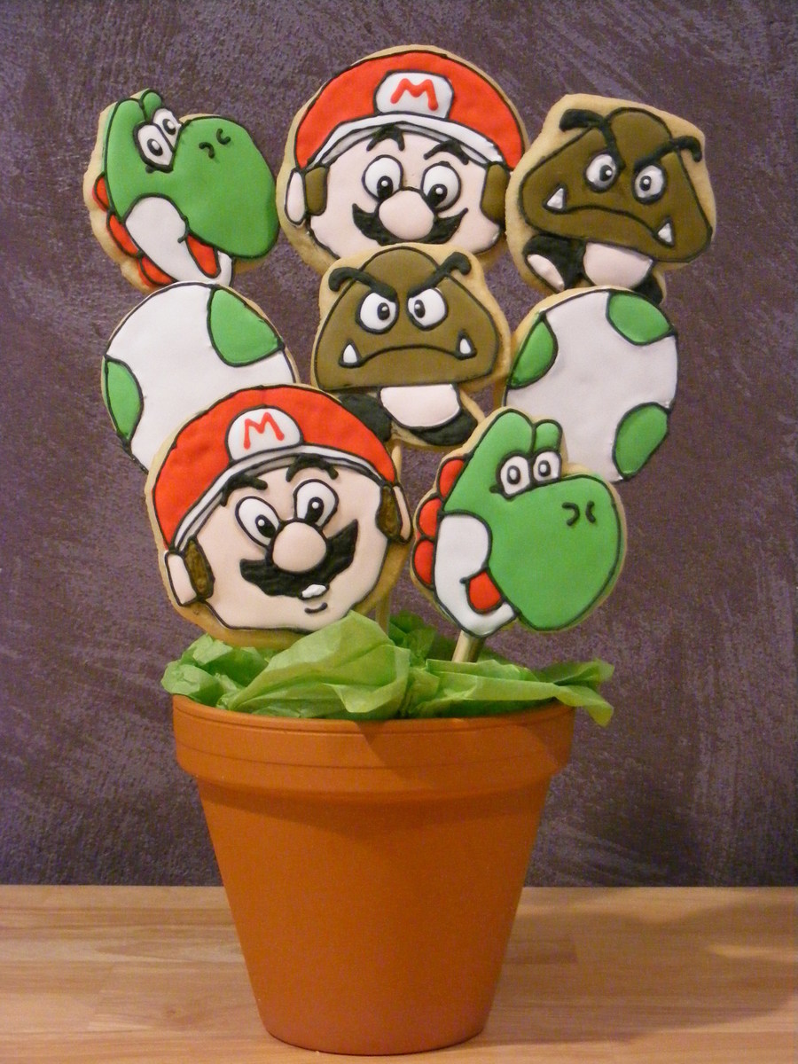 Mario Cookies on Cake Central