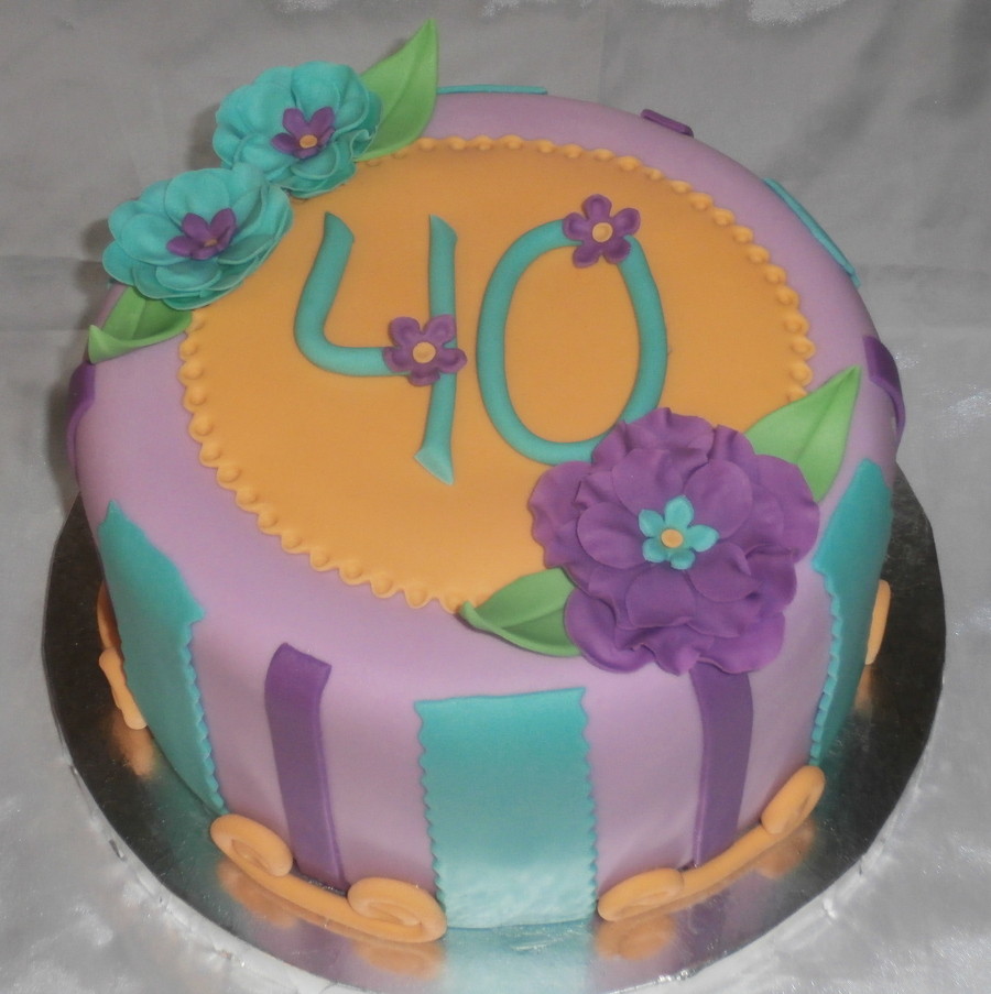 Vickie's 40 on Cake Central