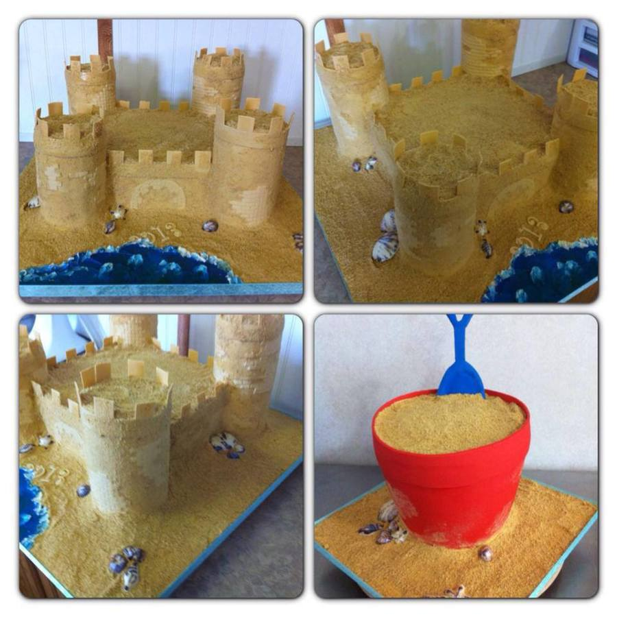 Sand Castle Cake Beach Pail Cake on Cake Central