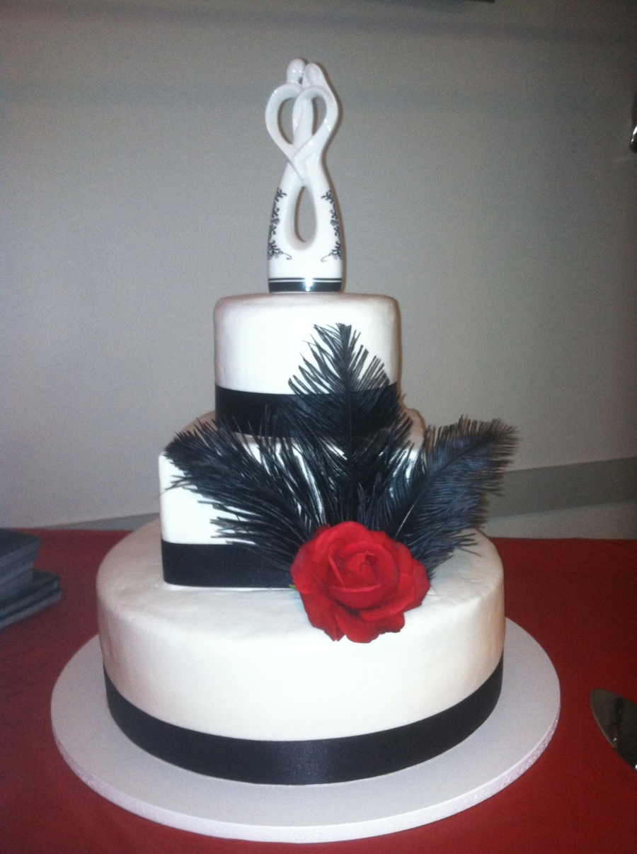 Black Feathers  on Cake Central
