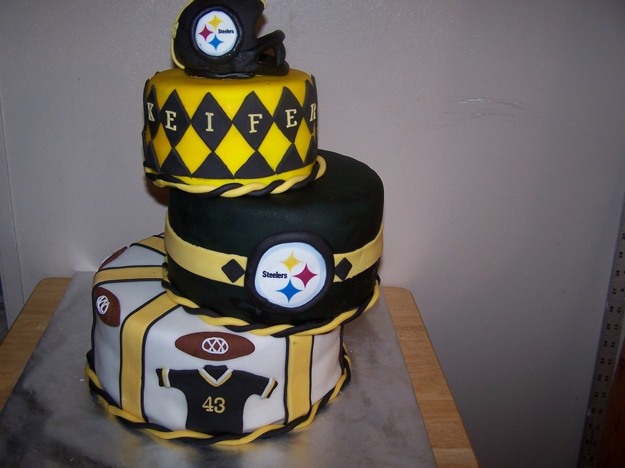 Happy Birthday Pittsburgh Steelers Cake