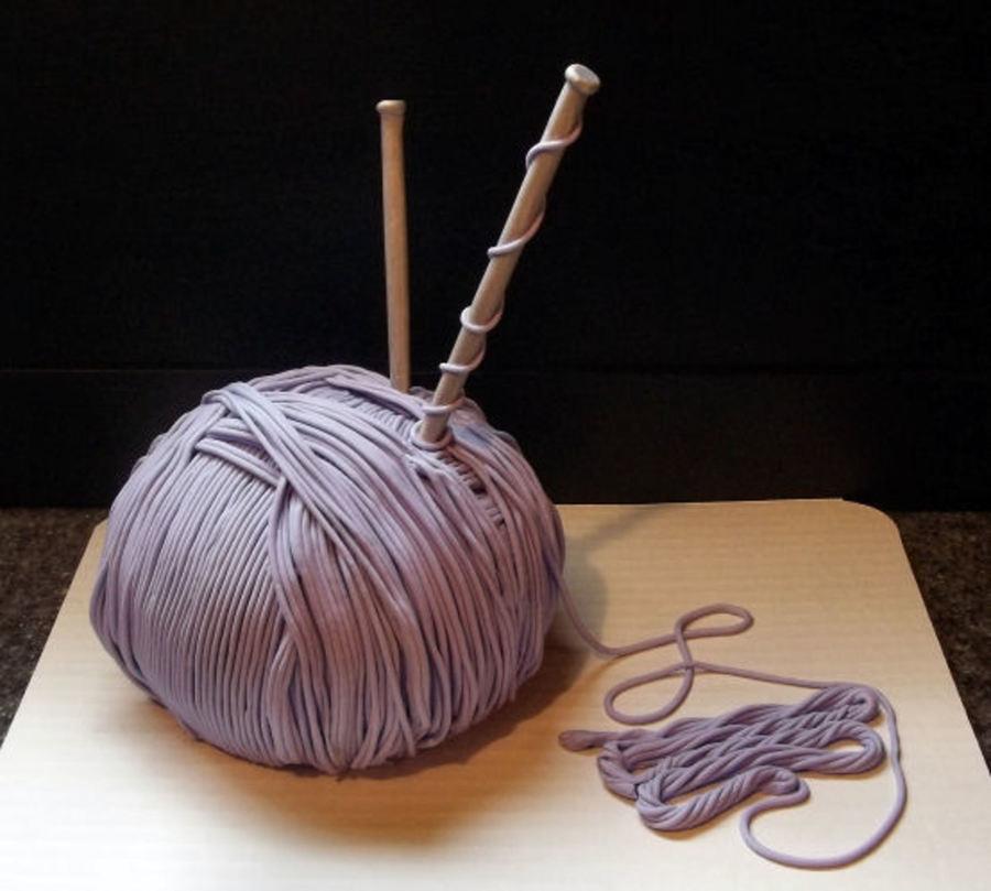Ball Of Yarn Cake