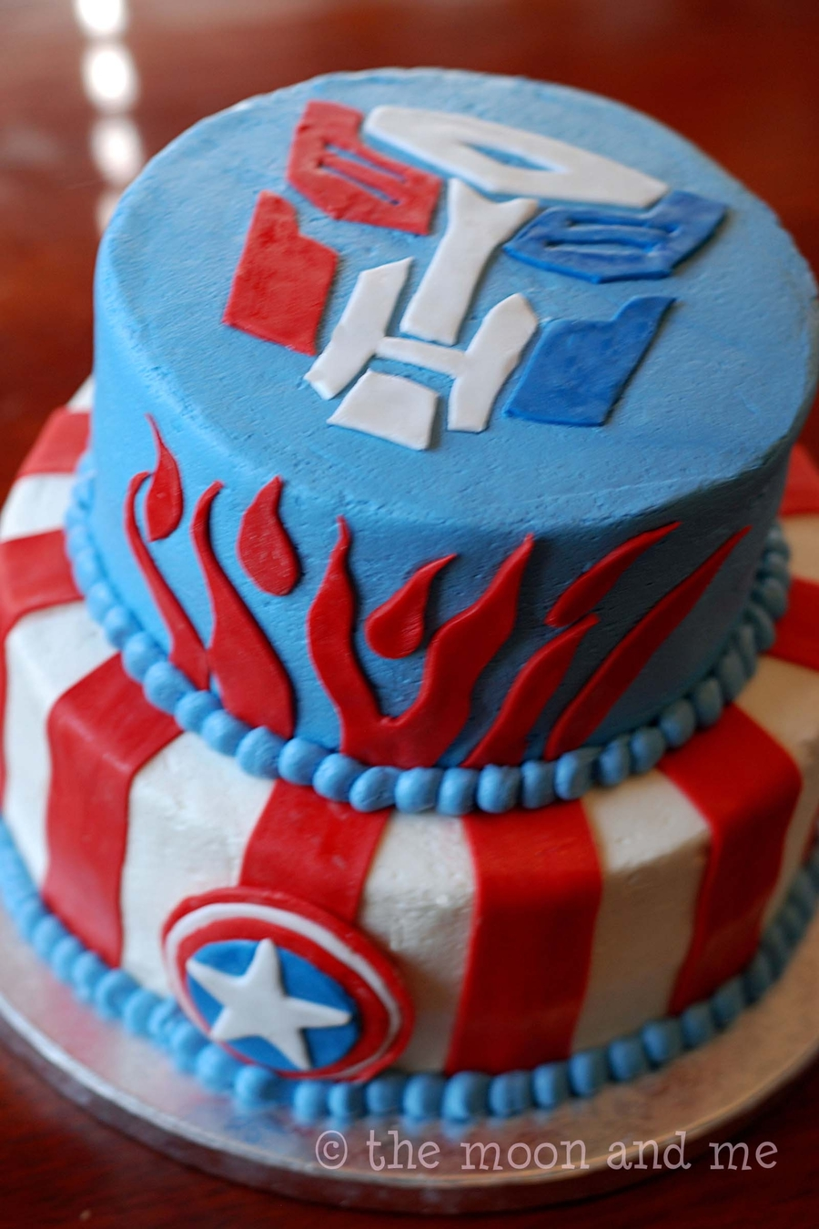 Captain America & Transformers on Cake Central