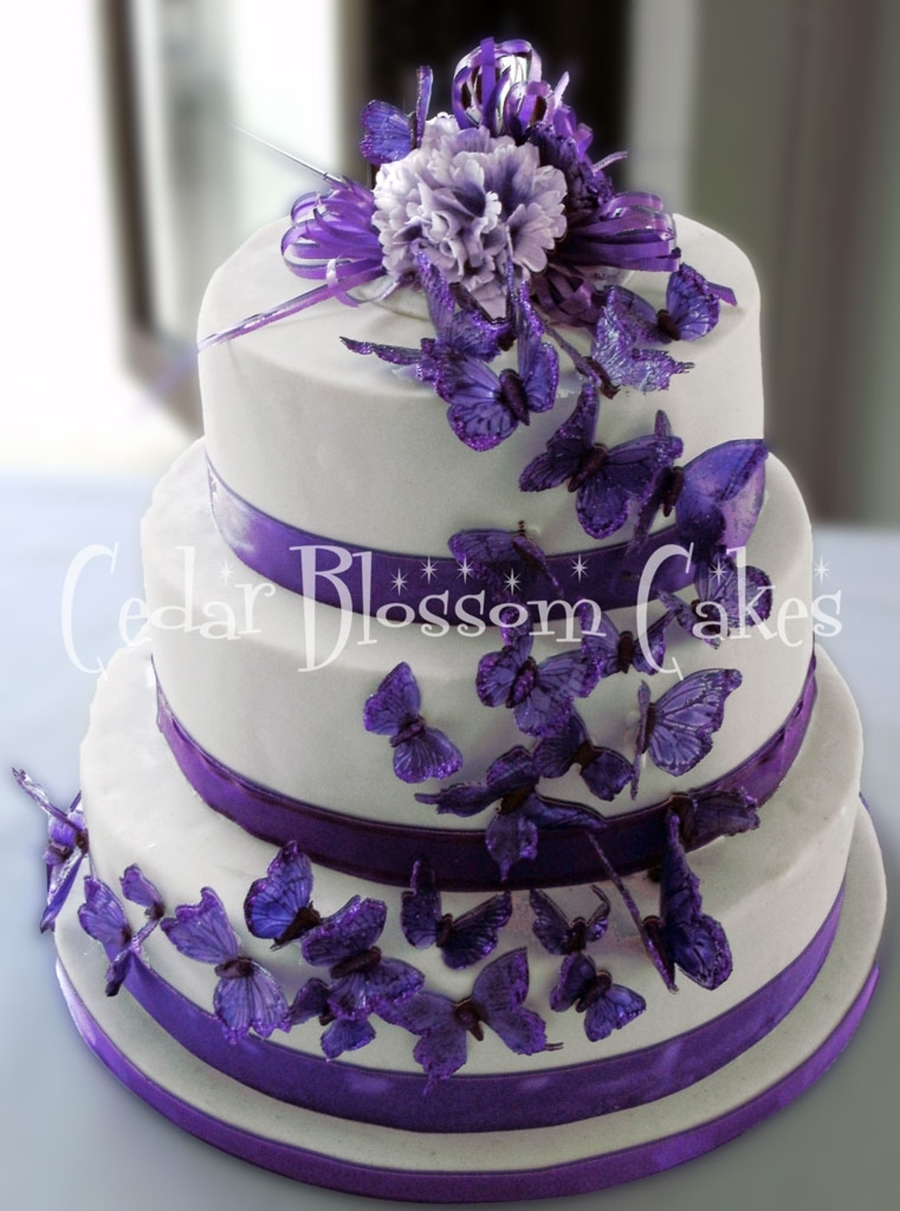 Edible Butterfly Amp Carnation Cake Cakecentral Com