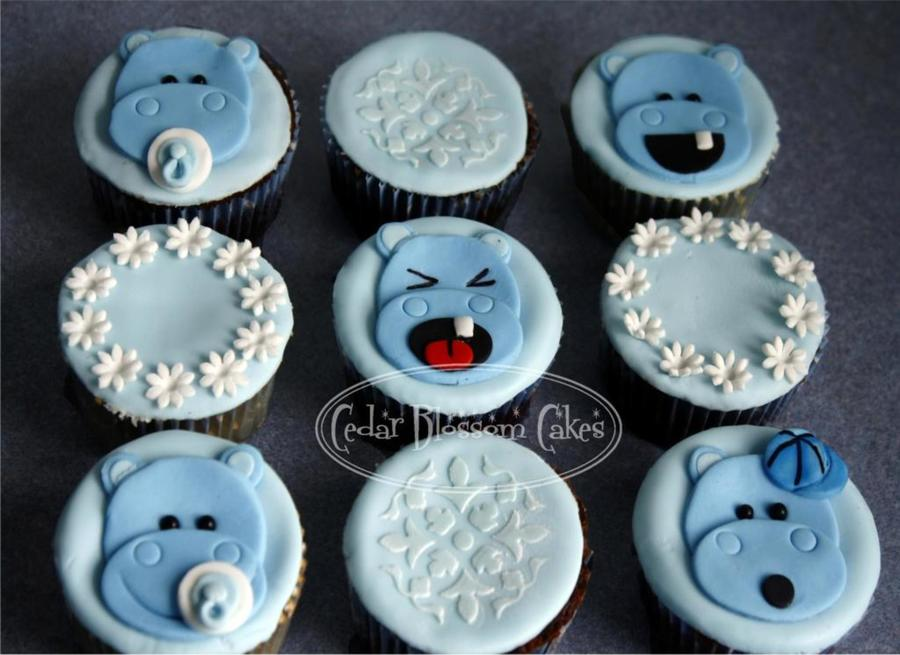 Hippo Baby Shower Cupcakes on Cake Central