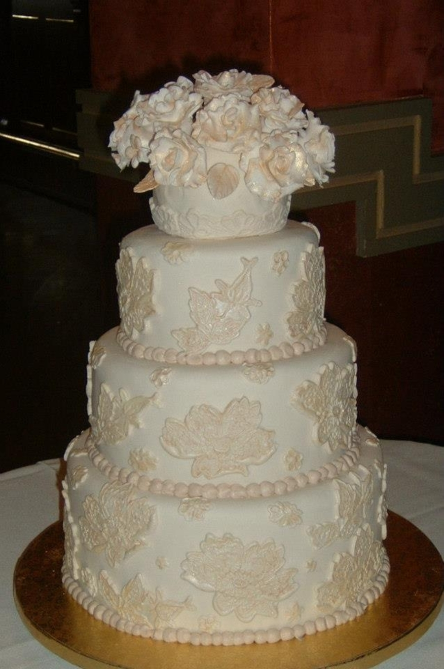 Alicia & Bo's Wedding Cake on Cake Central