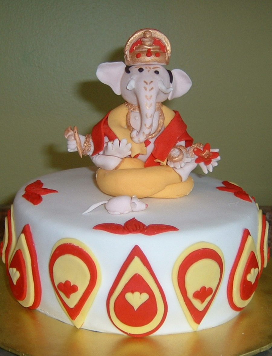 This Was A Ganesha Birthday Cake For My Neighbor Used Debbie Browns