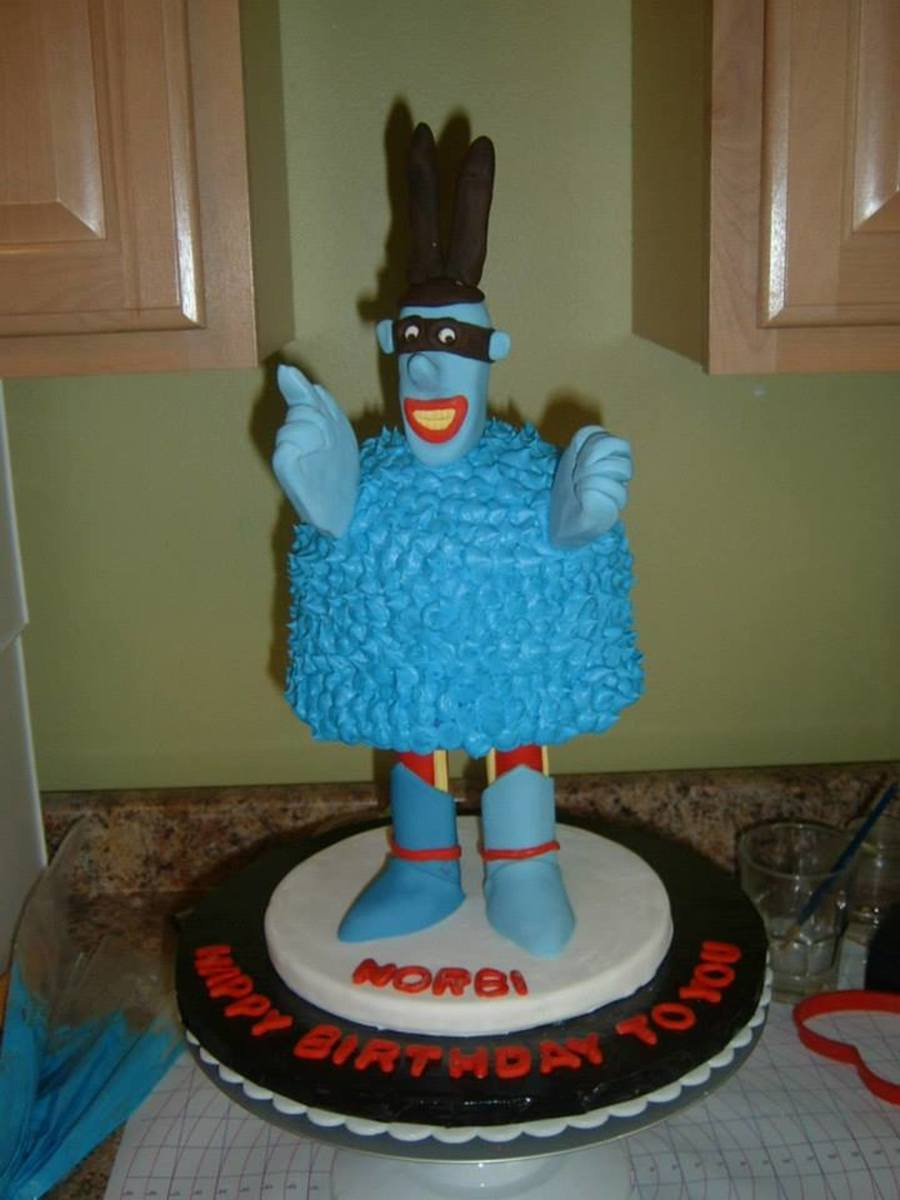 A Blue Meanie Cake For My Brothers Birthday I Used 1 Half