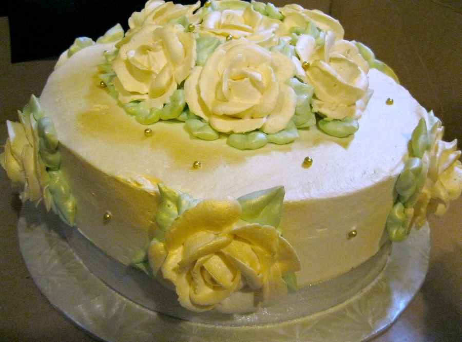 Wedding Cake, Middle Tier.  on Cake Central