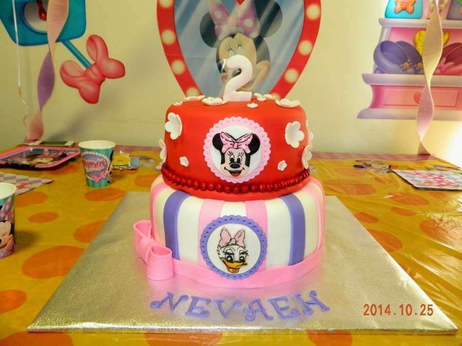 Minnie Mouse And Daisy Duck 2Nd Birthday Cake ...