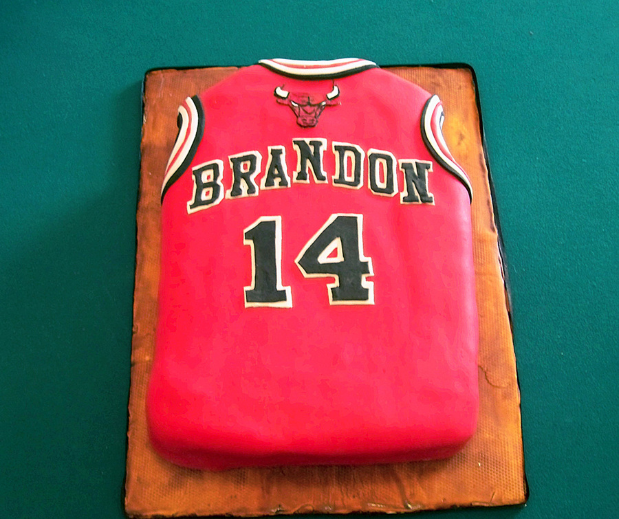 Bulls Jersey on Cake Central