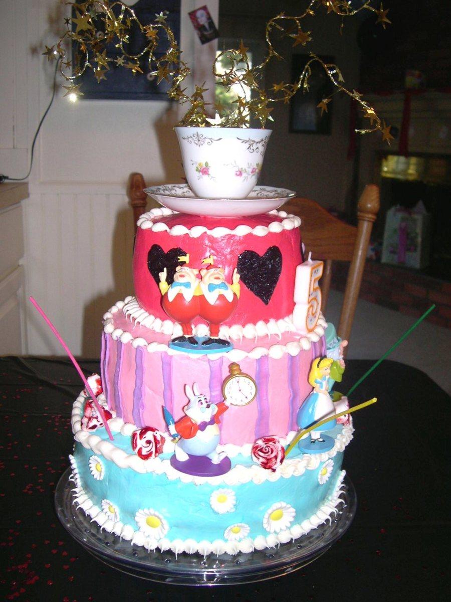 Phenomenal Alice In Wonderland Birthday Cake Cakecentral Com Funny Birthday Cards Online Alyptdamsfinfo