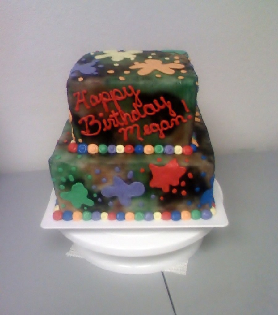 Paintball Cake - CakeCentral.com