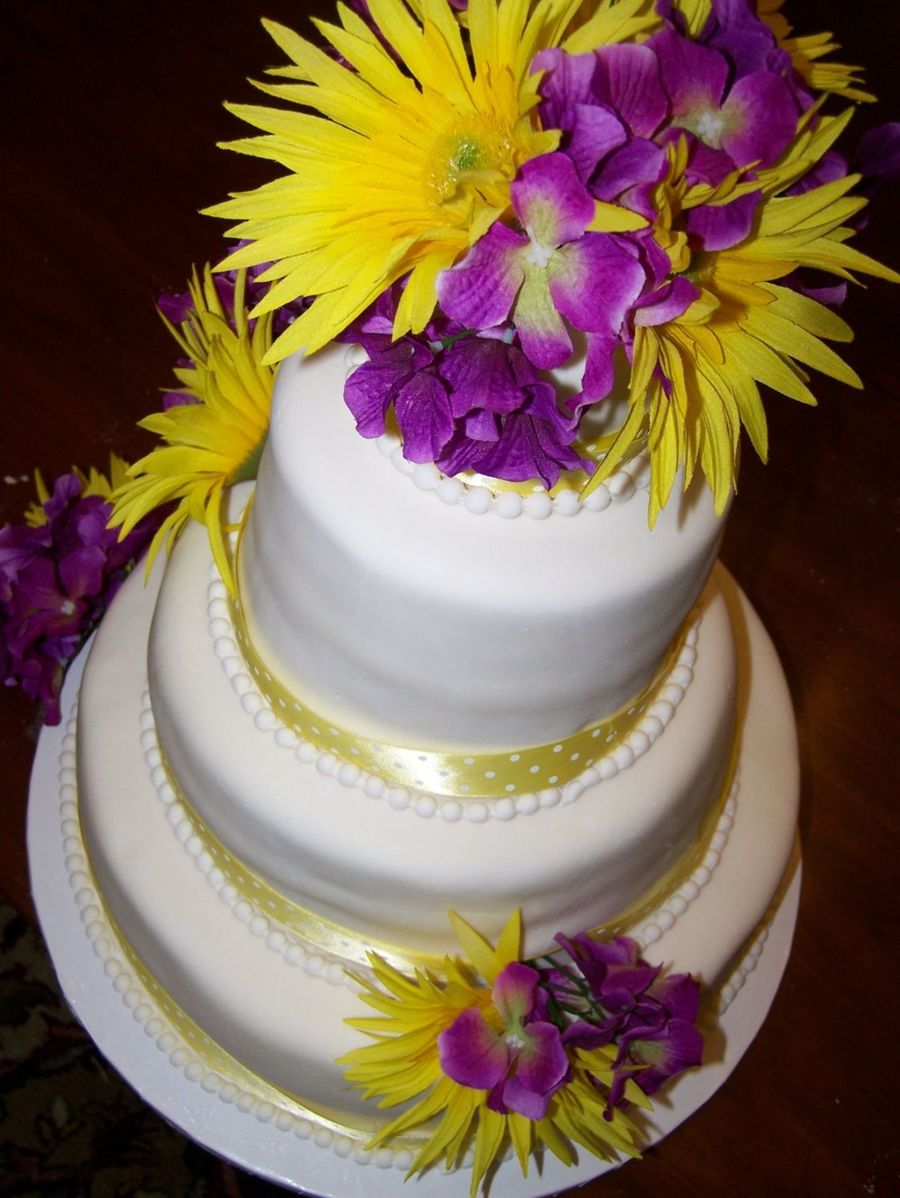 purple and yellow wedding cake ideas yellow and purple wedding cake cakecentral 18887