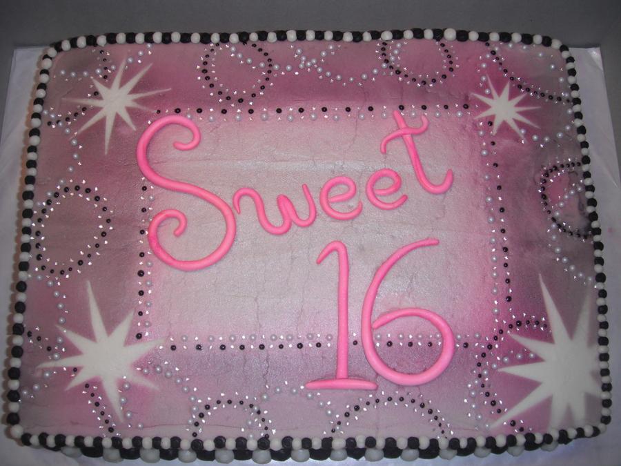 Phenomenal Sweet 16 Cakecentral Com Funny Birthday Cards Online Necthendildamsfinfo