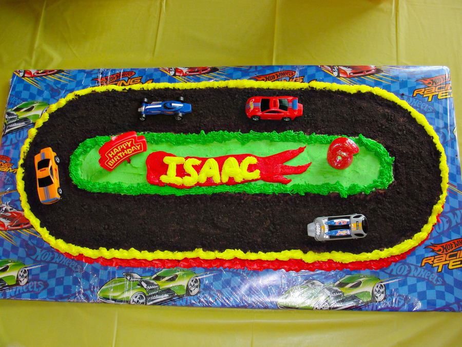 My Sons 6th Birthday Cake Hot Wheels Themed Race Track