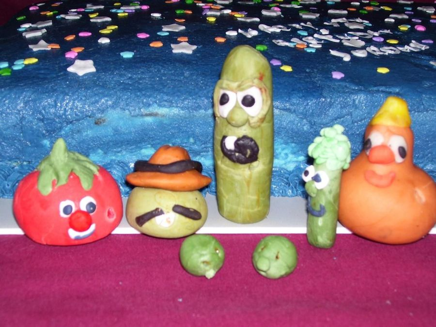 Veggie Tales Cast In Candy Clay on Cake Central