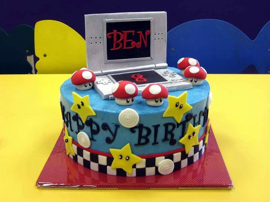 Nintendo Ds Mario Kart Birthday Cake on Cake Central