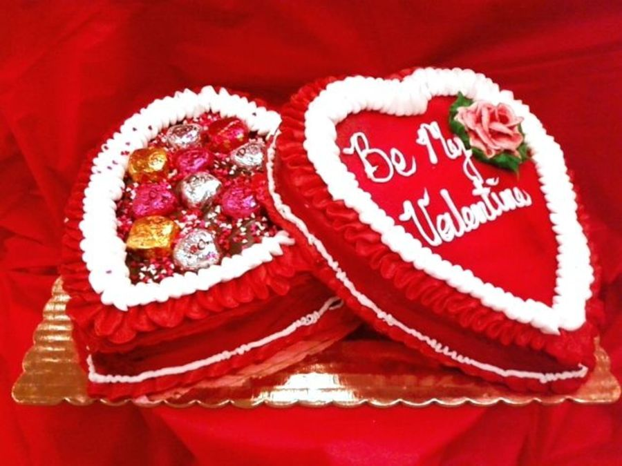 Romantic Heart Candy Box on Cake Central