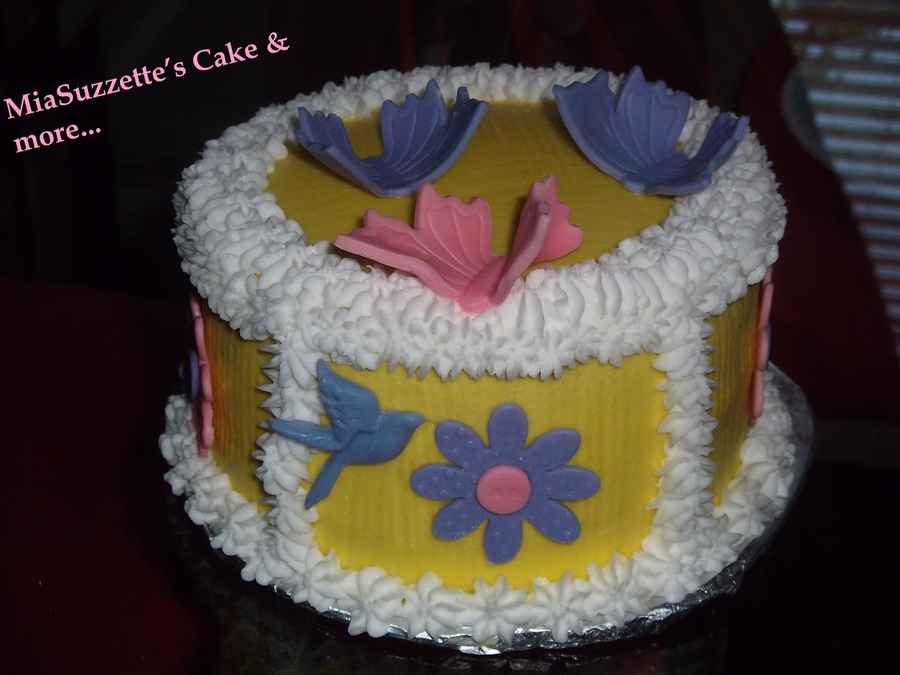 Flowers & Butterly... on Cake Central