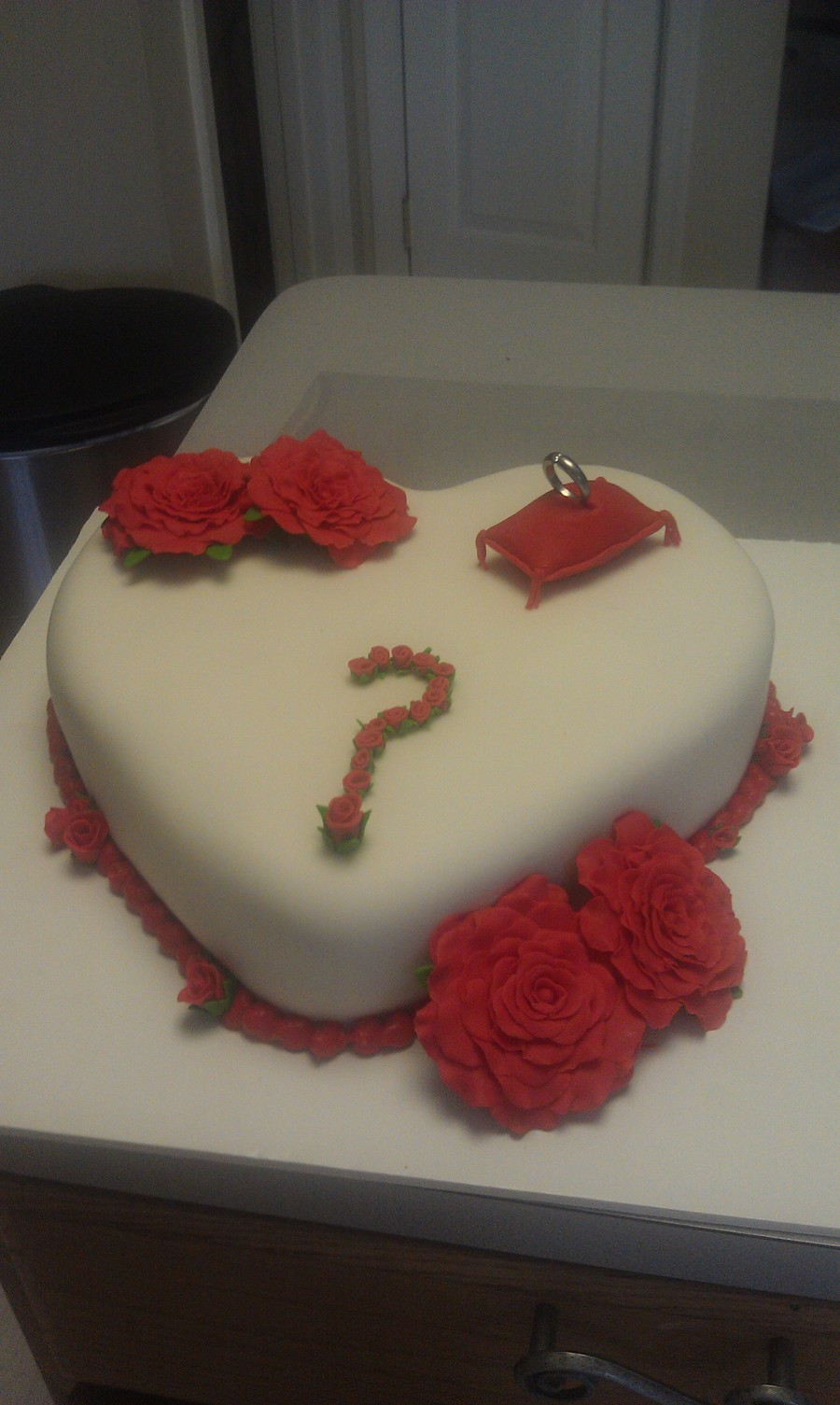 Proposal Cake!!! on Cake Central