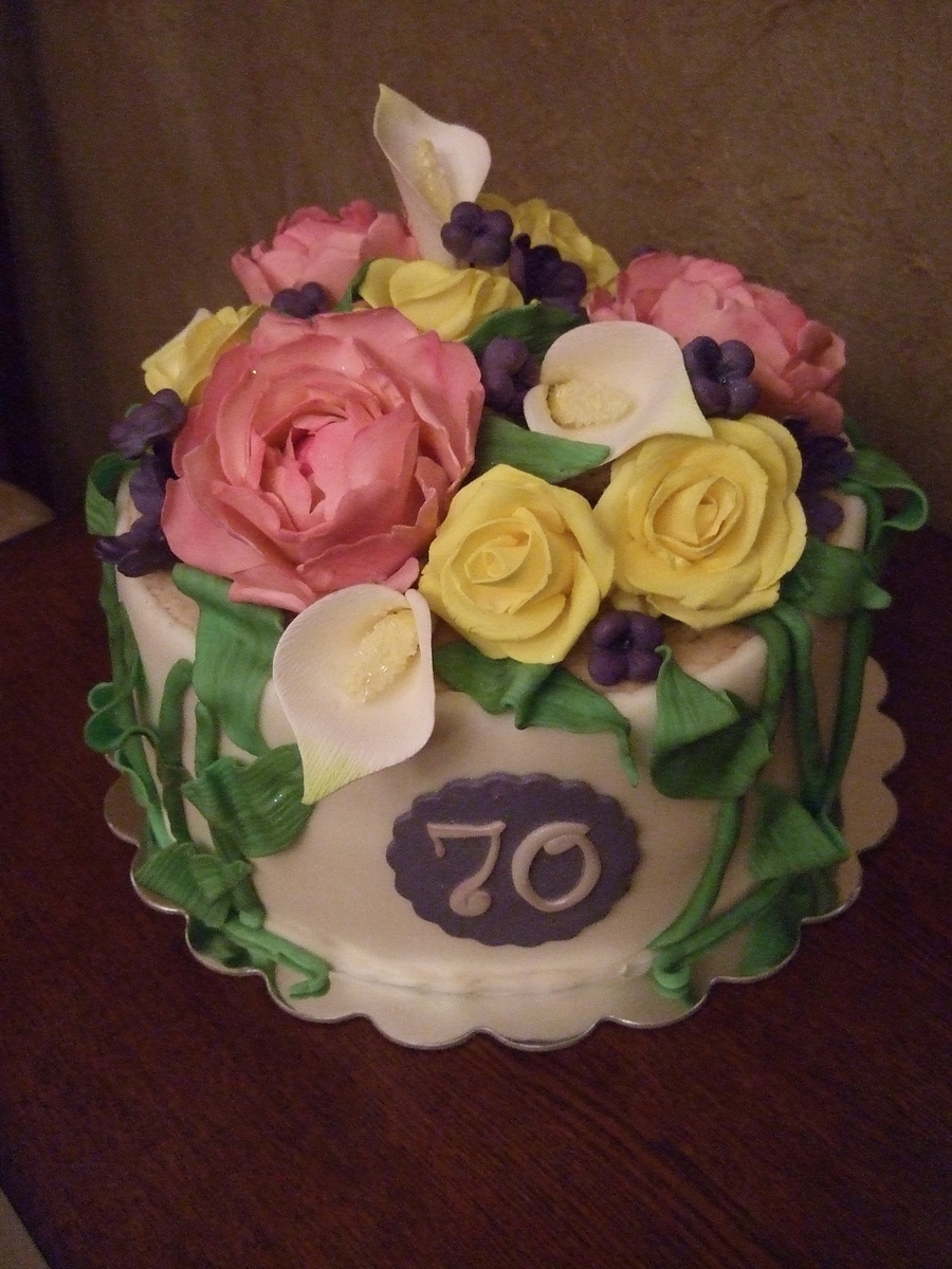 Spring Flowers on Cake Central