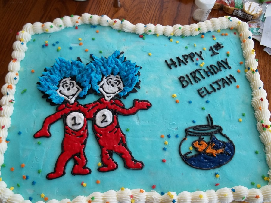 Thing 1 And Thing 2 Birthday Cake Cakecentral