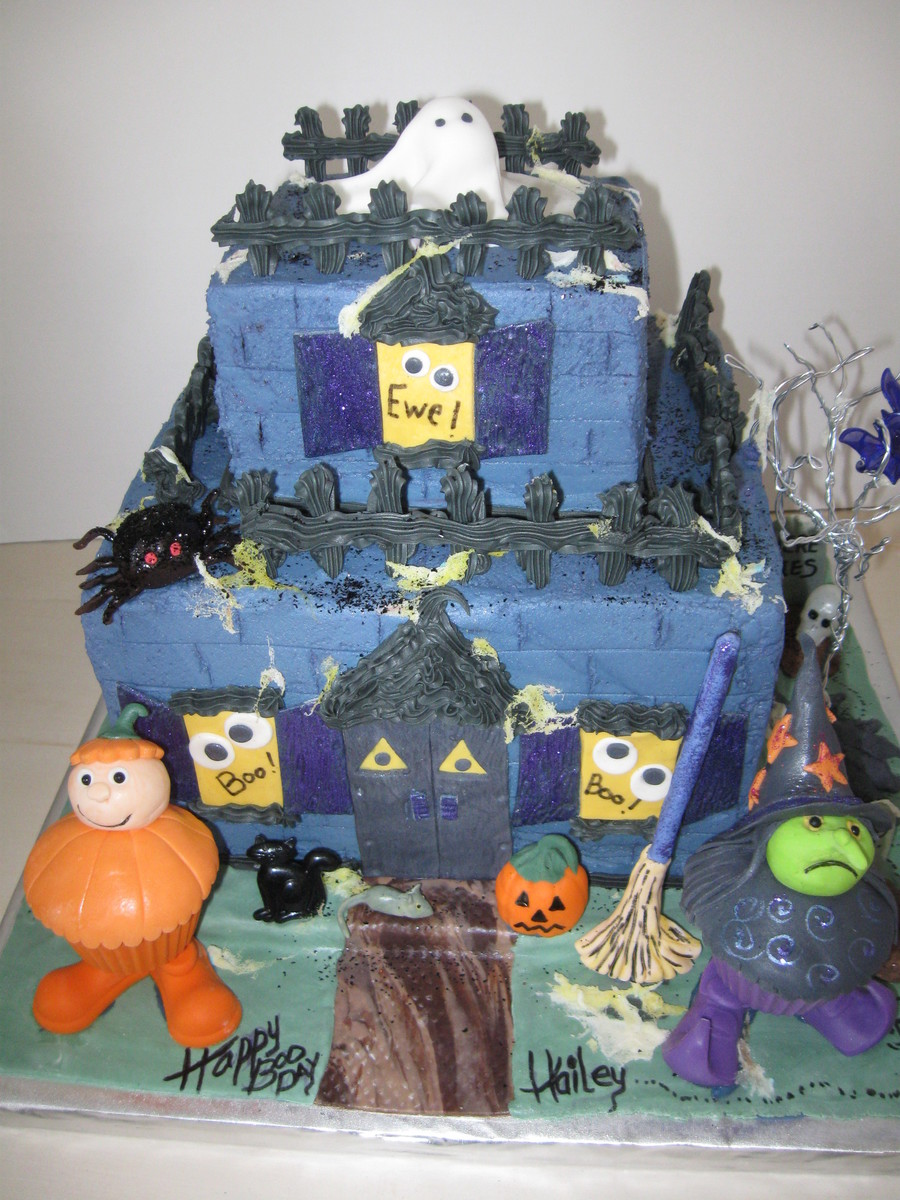 Haunted House For Childrens Birthday Party  on Cake Central