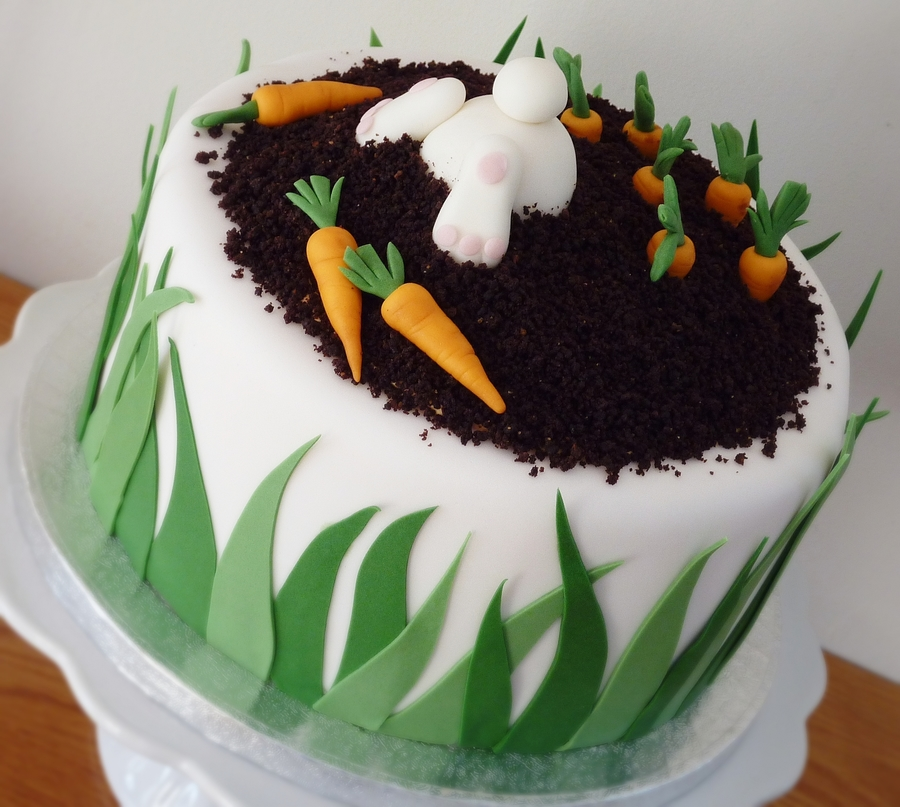 Bunny Carrot Cake on Cake Central