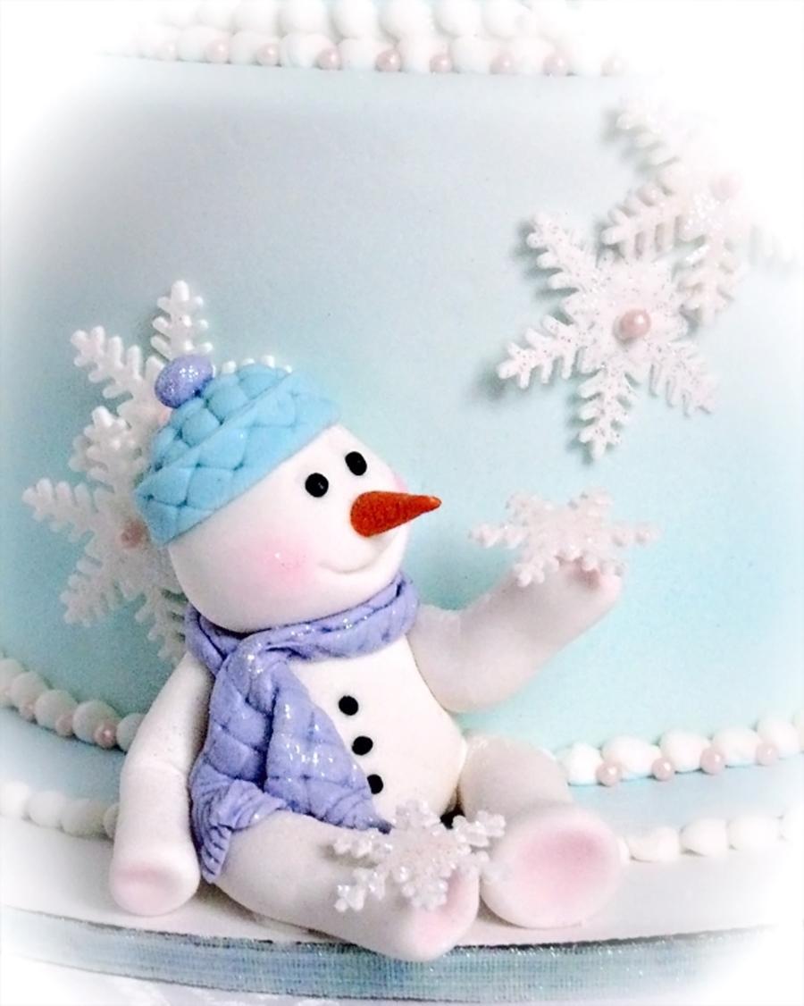 Snowman Birthday Cake Photos
