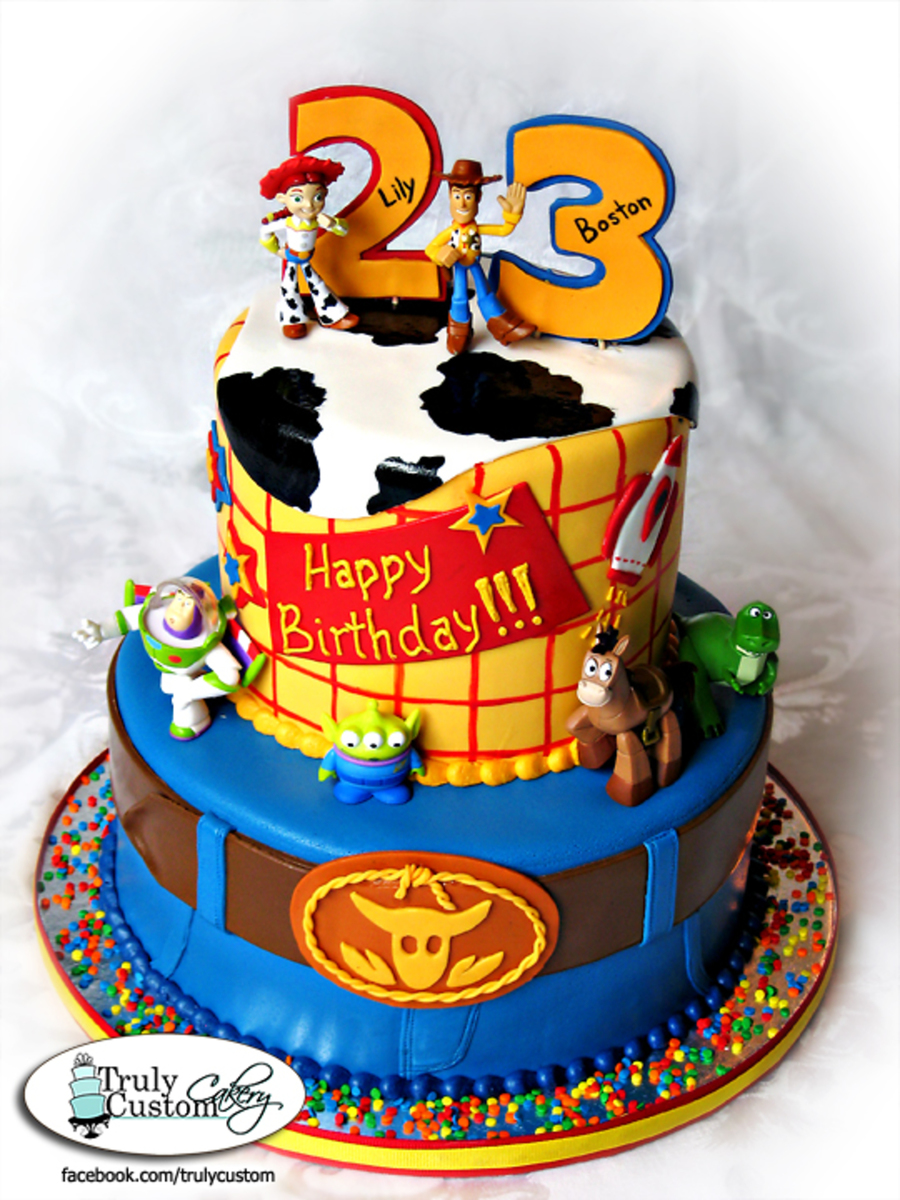 Boston And Lilys Toy Story Birthday Cake Cakecentral