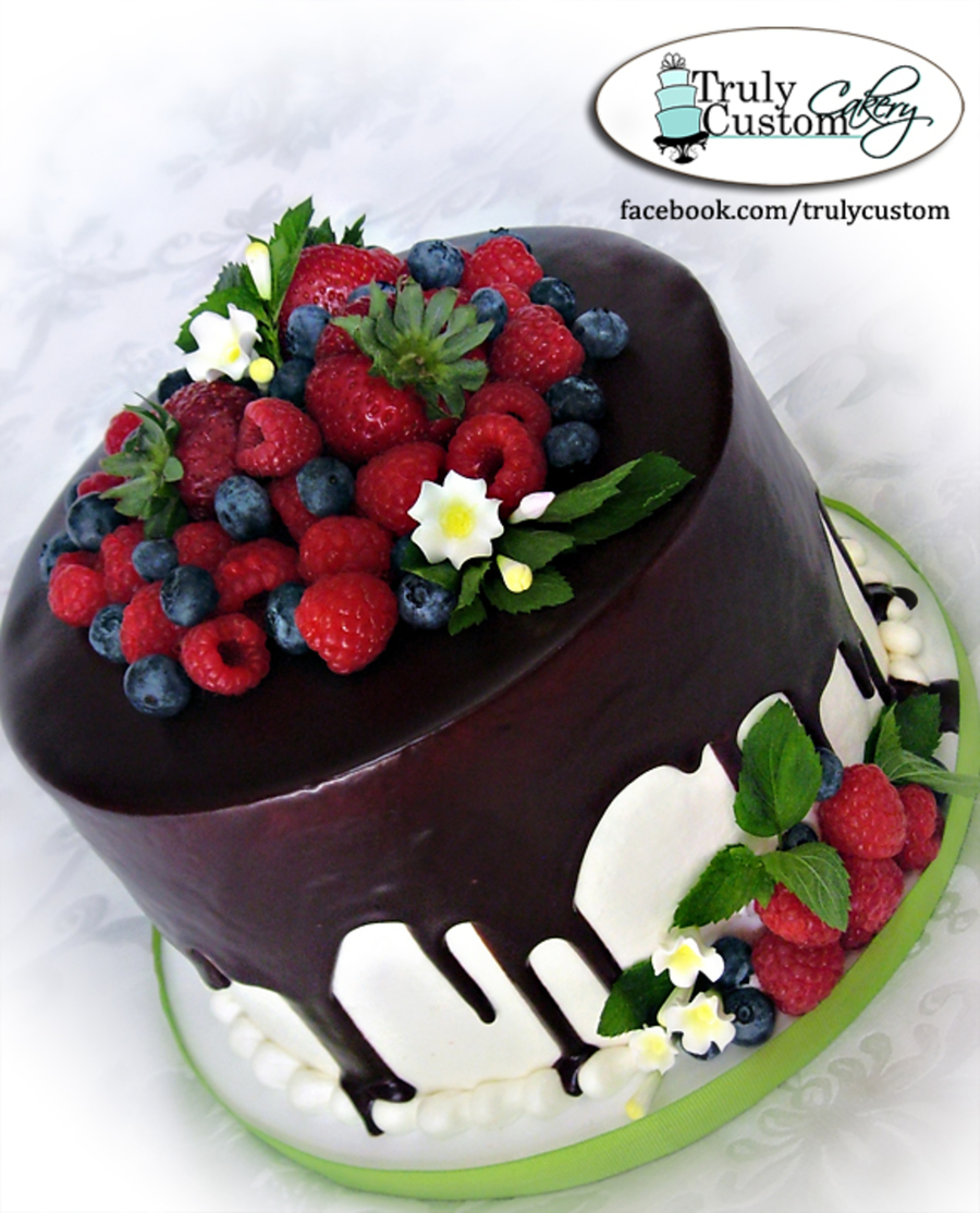 Gnache And Fresh Fruit Cakecentral Com