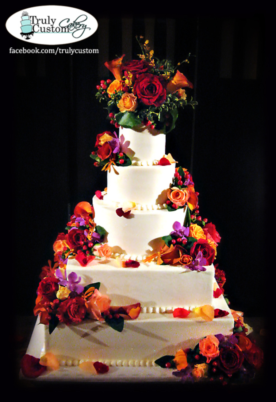Wedding Cake Buttercream And Fresh Flowers on Cake Central