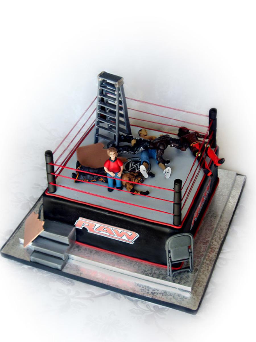 Wwe Wrestling Cake For A Little Boy Cakecentral Com