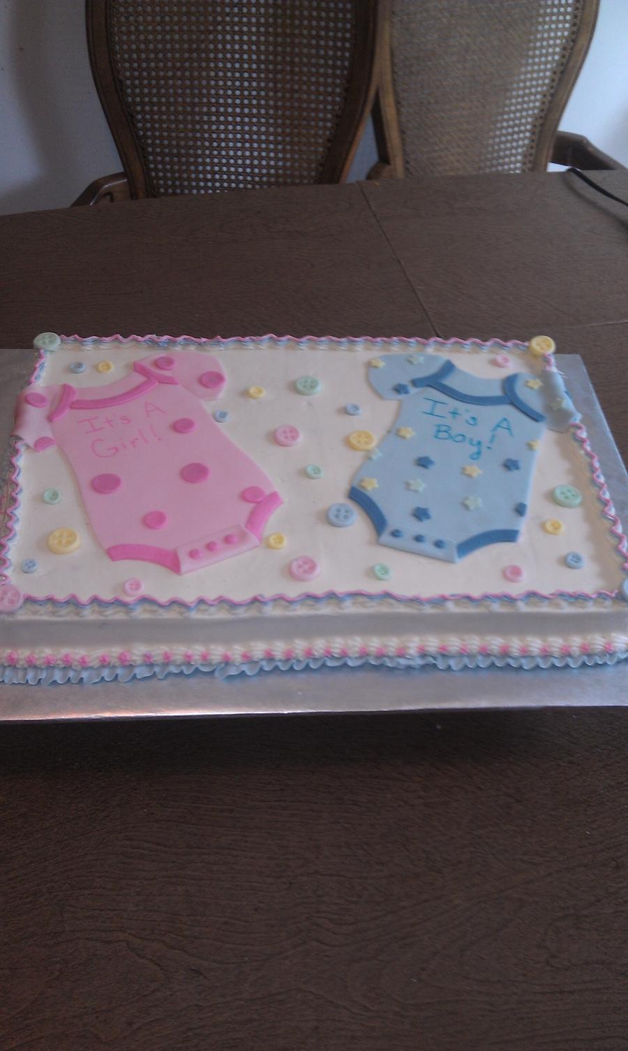 Boy/girl Baby Shower , CakeCentral.com
