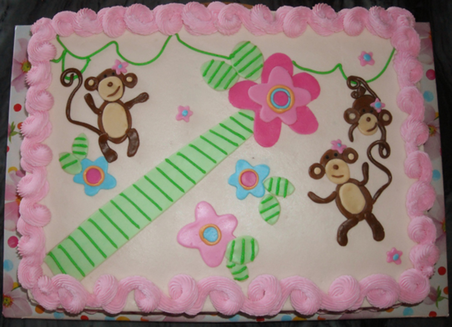 Melanie Monkey Baby Shower  on Cake Central