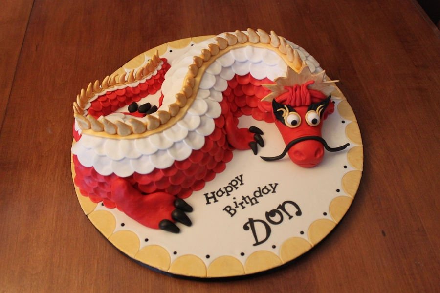 Chinese Dragon on Cake Central