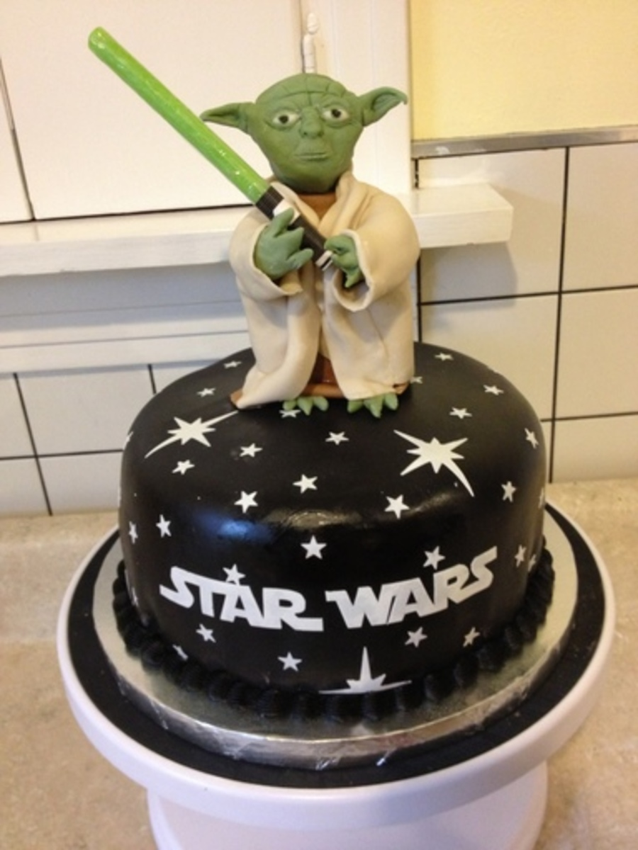 Yoda Cake I Made For My Sons 6Th Birthday on Cake Central