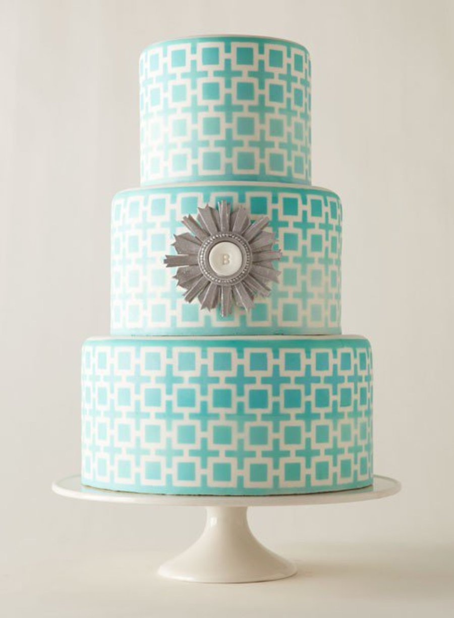 Jonathan Adler-Inspired Geometric Cake on Cake Central