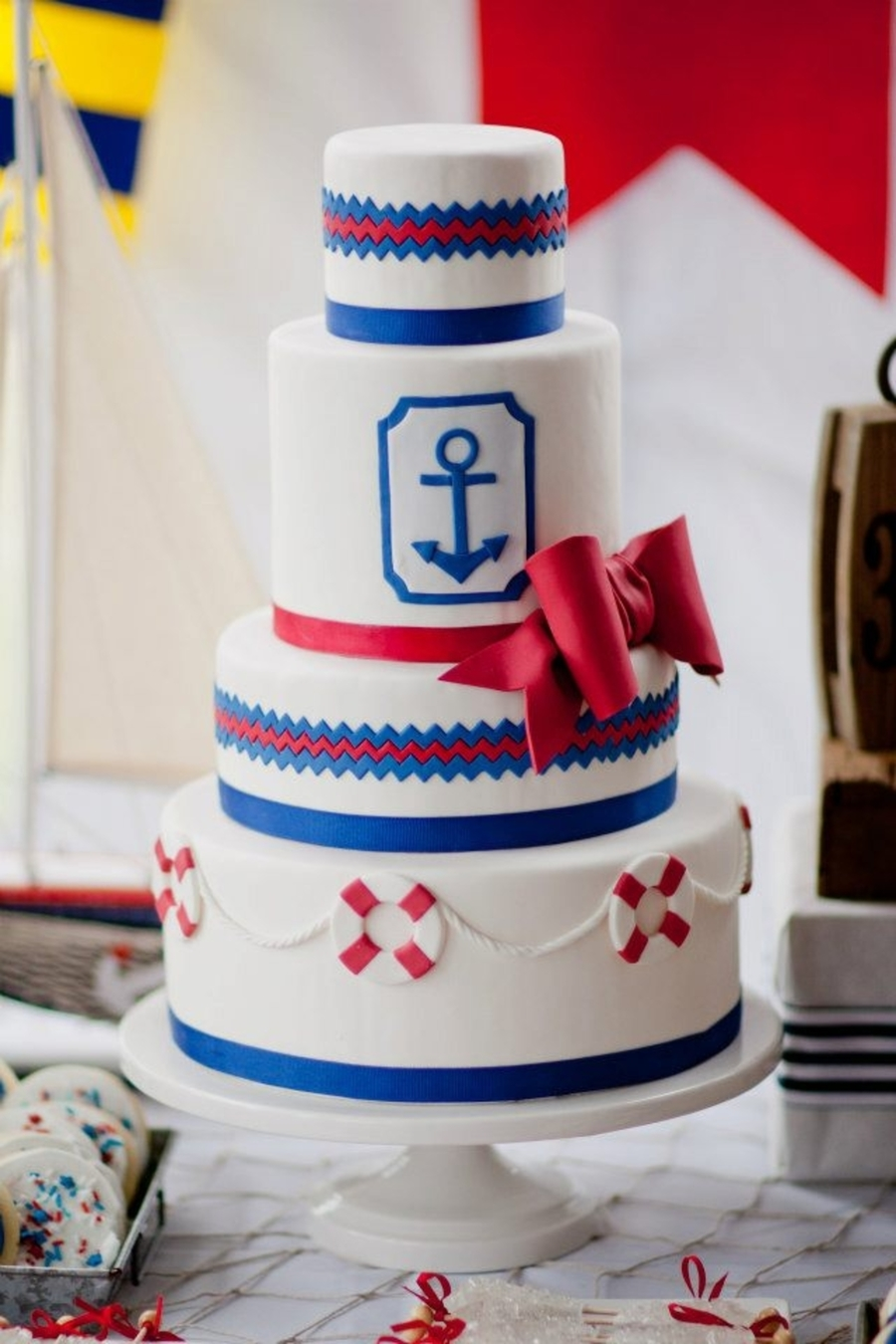 Nautical Wedding Cake  on Cake Central