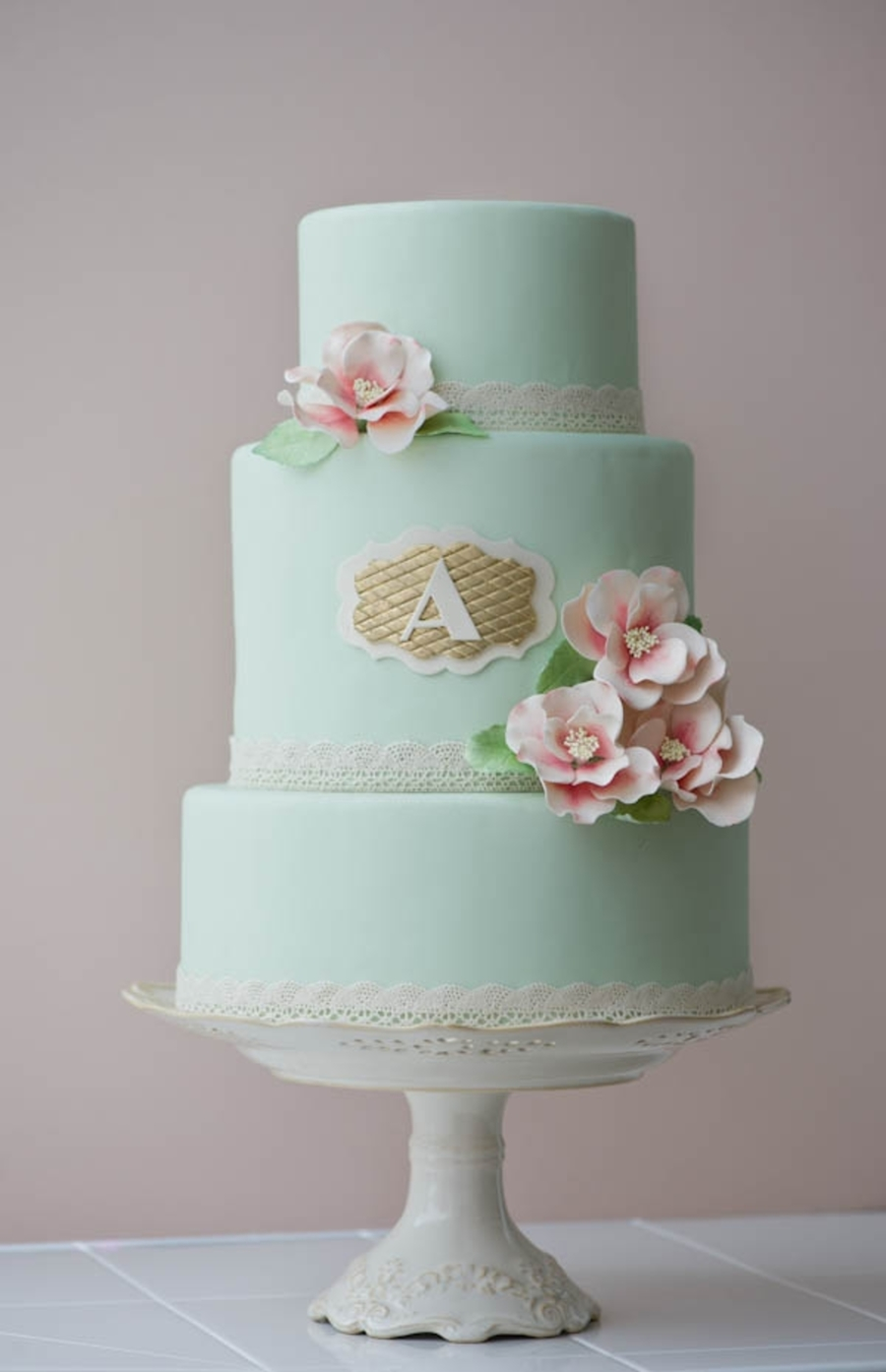 Mint Green Vintage on Cake Central