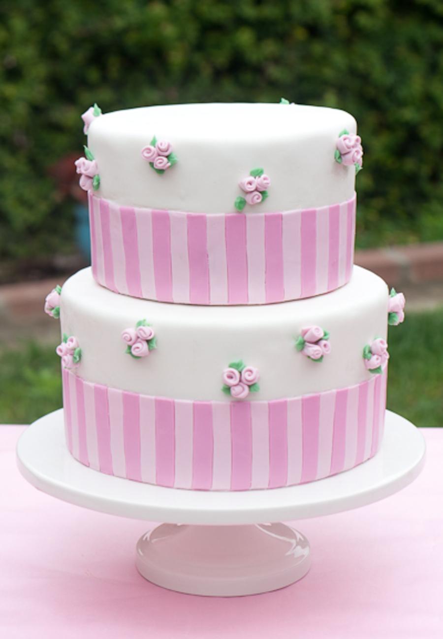 Wild Safari Pink Baby Shower Cake