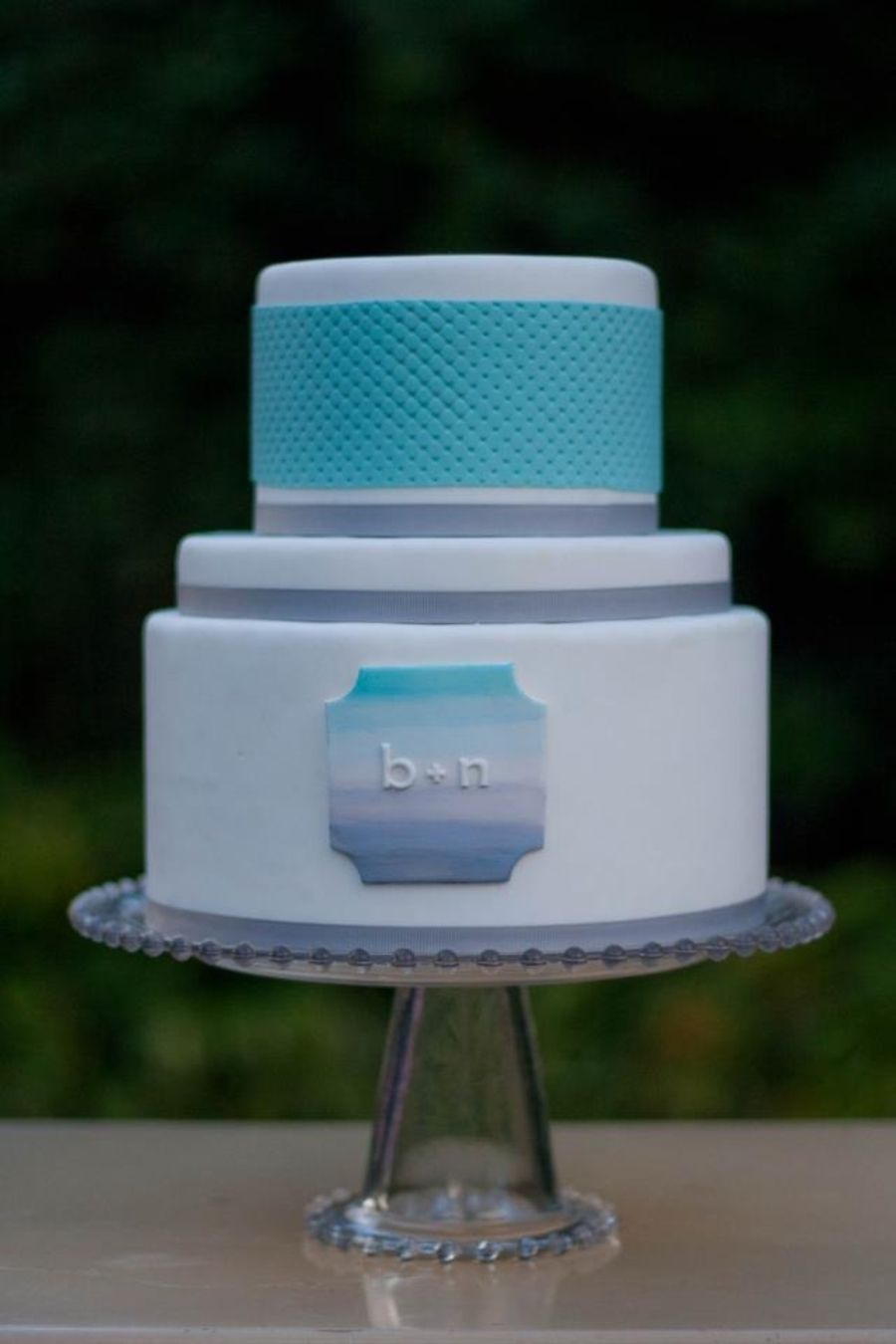 Ombre Dip-Dyed Plaque  on Cake Central