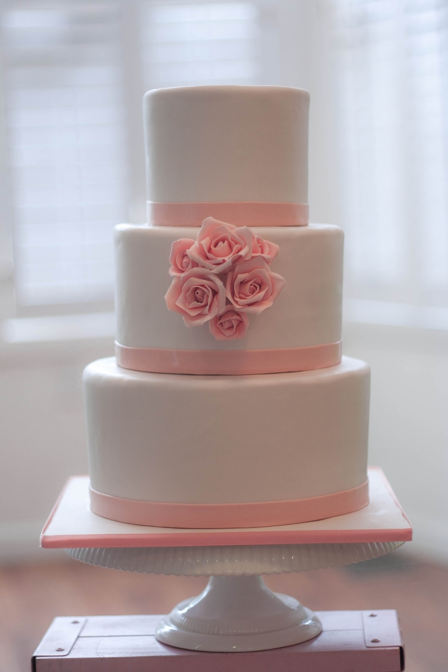 Classic Wedding Cake With Sugar Roses on Cake Central
