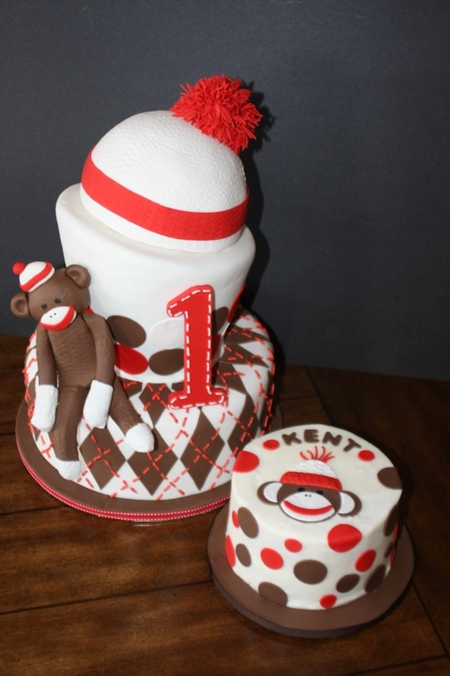 Remarkable Sock Monkey 1St Birthday Cake Cakecentral Com Funny Birthday Cards Online Barepcheapnameinfo