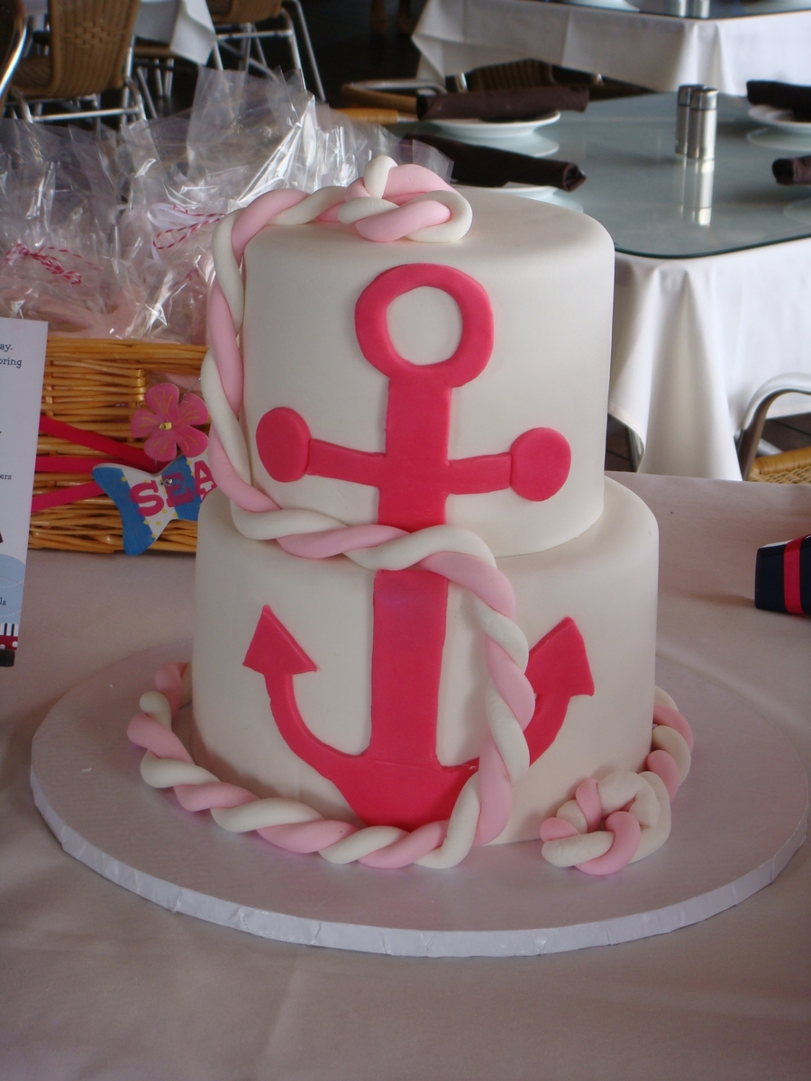 Baby Shower Nautical Cake on Cake Central