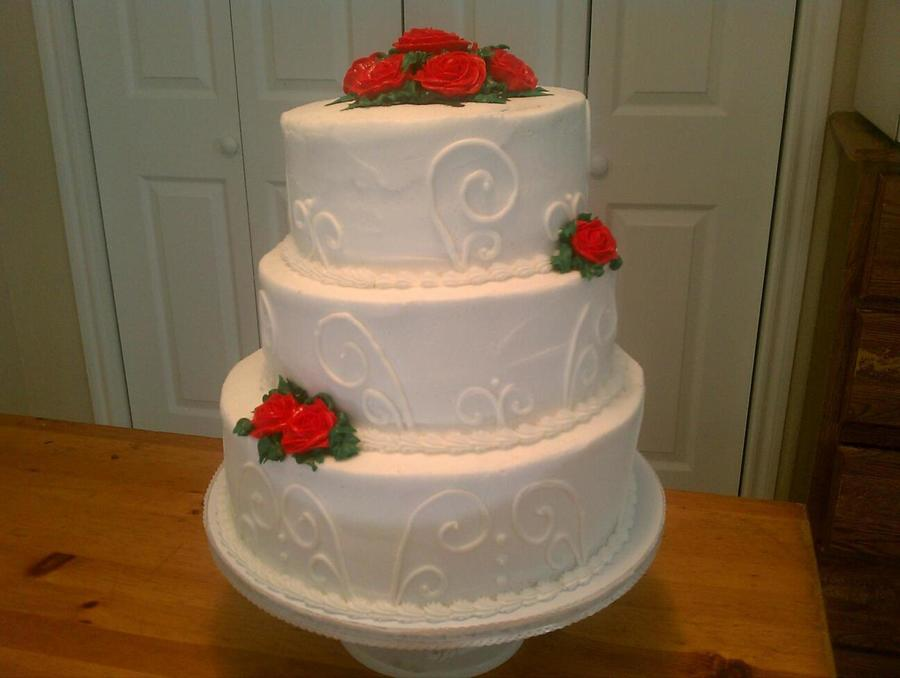 3 Tier Wedding Cake With All Bc on Cake Central