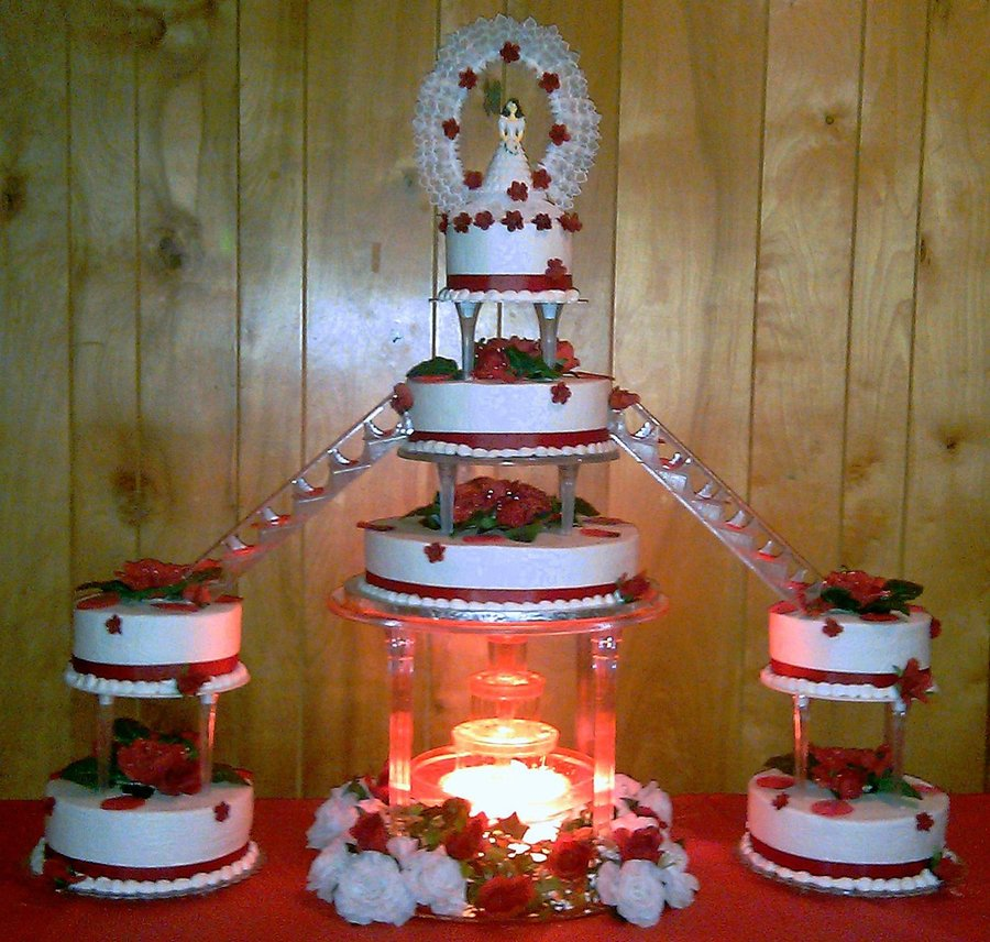 Tradicional Quinceanera Cake For My Friends Daughter  on Cake Central
