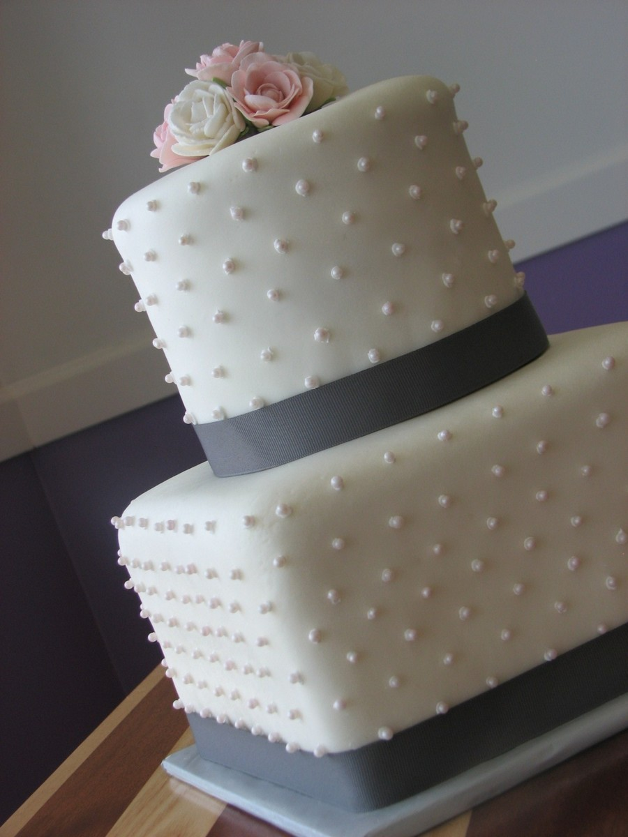 First Wedding Cake To Go Out Our Doors :) on Cake Central